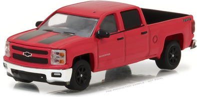 GreenLight 1/64 General Motors Collection Series 2 - 2015 Chevrolet Silverado Rally Edition - Victory Red with Black Stripes Solid Pack - #27875-C