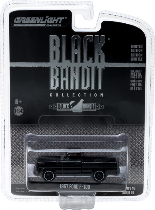 GreenLight 1/64 Black Bandit Series 16 - 1967 Ford F-100 Solid Pack - #27880-A