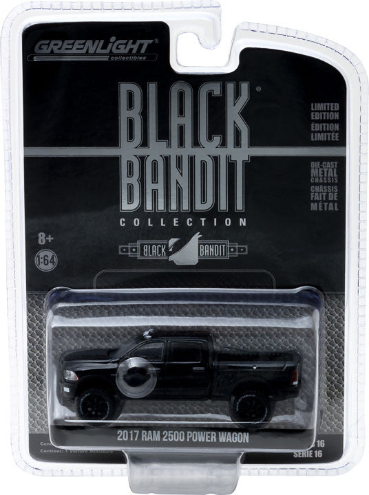 GreenLight 1/64 Black Bandit Series 16 - 2017 Ram 2500 Power Wagon Solid Pack - #27880-E