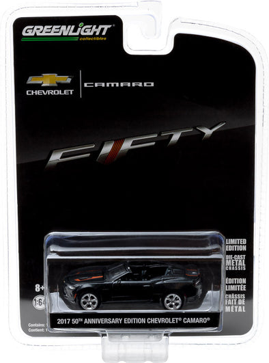 GreenLight 1/64 Anniversary Collection Series 4 - 2017 Chevy Camaro Convertible 50th Anniversary Edition Solid Pack - #27890-F