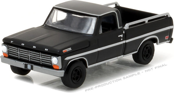 GreenLight 1/64 Black Bandit Series 17 - 1968 Ford F-100 with Bed Rails Solid Pack - #27910-A
