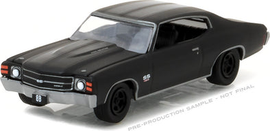 GreenLight 1/64 Black Bandit Series 17 - 1971 Chevrolet Chevelle SS454 Solid Pack - #27910-B