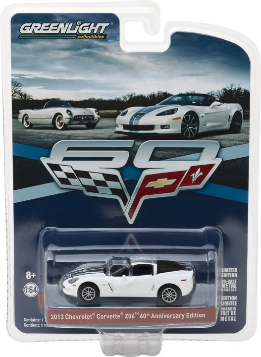GreenLight 1/64 Anniversary Collection Series 5 - 2013 Chevy Corvette Z06 60th Anniversary Edition Solid Pack - #27920-C