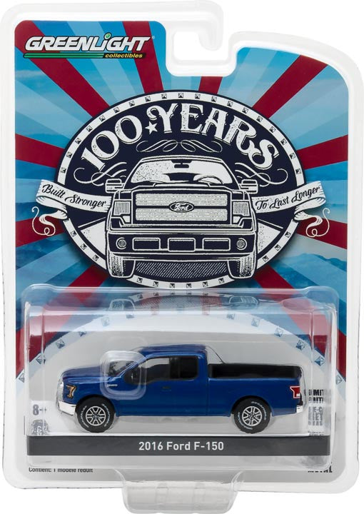 GreenLight 1/64 Anniversary Collection Series 5 - 2016 Ford F-150 Ford Trucks 100 Years Solid Pack - #27920-E