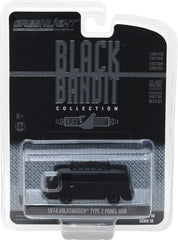 GreenLight 1/64 Black Bandit Series 18 - 1974 Volkswagen Type 2 Panel Van Solid Pack - #27930-B