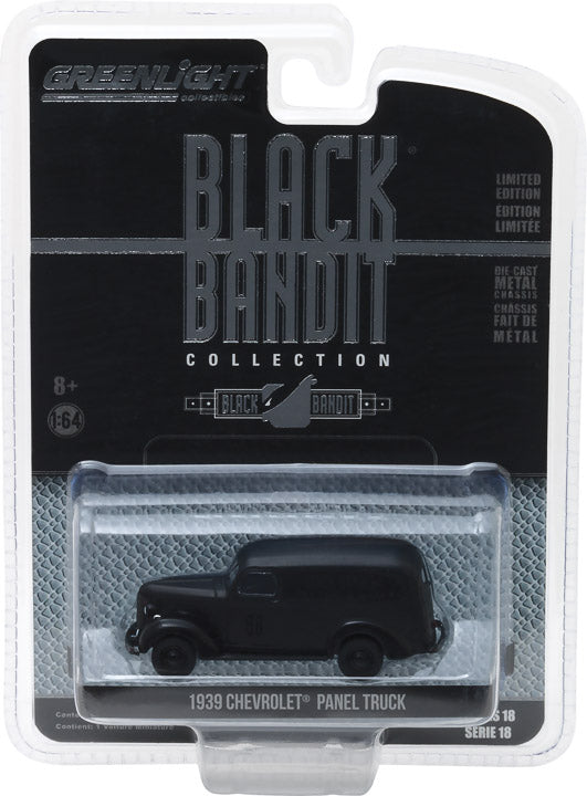 GreenLight 1/64 Black Bandit Series 18 - 1939 Chevrolet Panel Truck Solid Pack - #27930-F