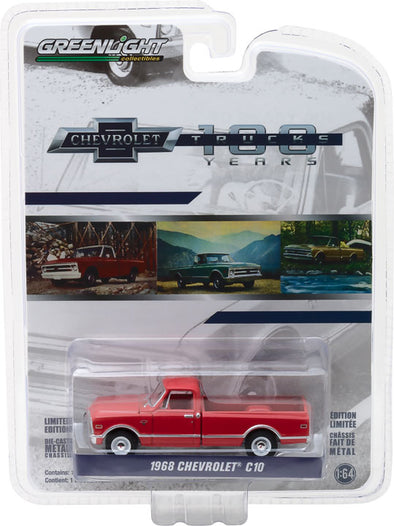GreenLight 1/64 Anniversary Collection Series 6 - 1968 Chevrolet C-10 100th Anniversary of Chevy Trucks Solid Pack  - #27940-B