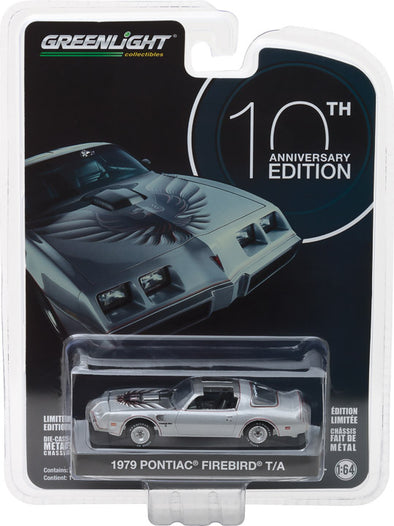 GreenLight 1/64  Anniversary Collection Series 6 - 1979 Pontiac Trans Am 10th Anniversary Edition Solid Pack - #27940-D