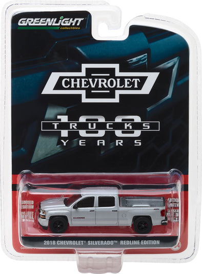 GreenLight 1/64 Anniversary Collection Series 6 - 2018 Chevrolet Silverado 100th Anniversary of Chevy Trucks Solid Pack - #27940-F