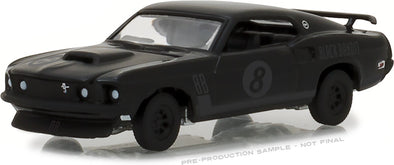 GreenLight 1/64 Black Bandit Series 19 - 1969 Ford Mustang Black Bandit Trans Am Racing Team Solid Pack - #27950-B