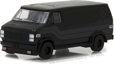 GreenLight 1/64 Black Bandit Series 19 - 1980 GMC Vandura Solid Pack - #27950-C