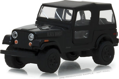 GreenLight 1/64 Black Bandit Series 20 - 1976 Jeep CJ-7 Solid Pack  - #27960-F