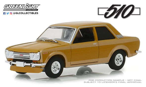 GreenLight 1/64 Anniversary Collection Series 7 - 1968 Datsun 510 Datsun 510 50 Years Solid Pack - #27970-A