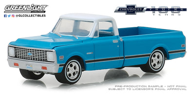GreenLight 1/64 Anniversary Collection Series 7 - 1972 Chevrolet C-10 100th Anniversary of Chevy Trucks Solid Pack - #27970-C