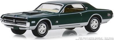 GreenLight 1/64 ANNIVERSARY COLLECTION SERIES 9 - 1970 Dodge HEMI Challenger R/T 426 HEMI 50 Years1968 Mercury Cougar XR-7 GT-E 428 Cobra Jet Cobra Jet 50th Anniversary - #28000-A