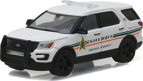 GreenLight 1/64 Country Roads Series 15 - 2016 Ford Interceptor Utility - Orange County, Florida Sheriff Solid Pack  #29850-E