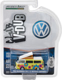 GreenLight 1/64 Club Vee-Dub Series 4 - 1968 Volkswagen T2 Type 2 Campmobile - Hippie Dippy Weather Van Solid Pack  #29860-D