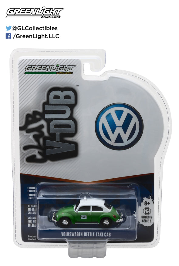 GreenLight 1/64 Club Vee-Dub Series 5 - Volkswagen Beetle Taxi Solid Pack  #29870-F