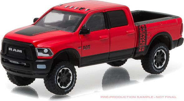 GreenLight 1/64 2017 Ram 2500 Power Wagon - Flame Red with Black (Hobby Exclusive) #29873