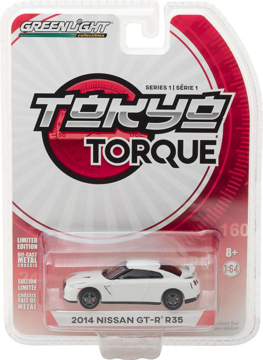 GreenLight 1/64 Tokyo Torque Series 1 - 2014 Nissan GT-R (R35) - White Pearl Solid Pack  #29880-F
