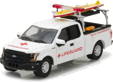 GreenLight 1/64 2016 Ford F-150 with Lifeguard Accessories (Hobby Exclusive)   #29899