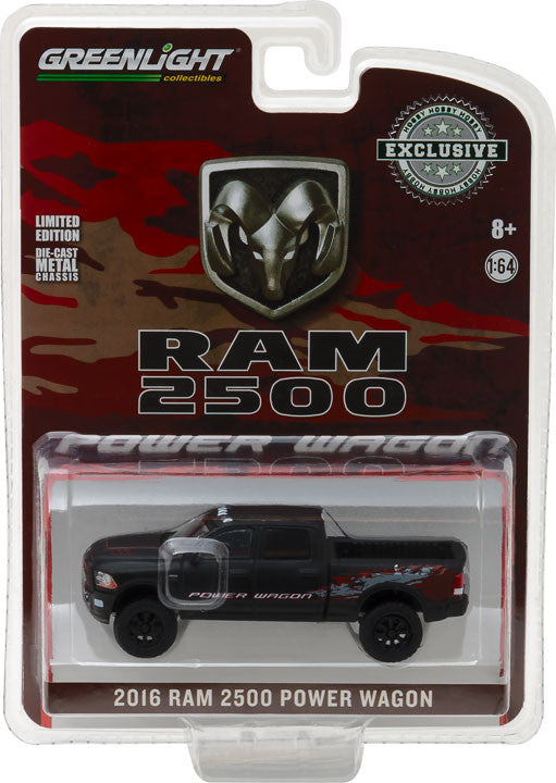 GreenLight 1/64 2016 Ram 2500 Power Wagon - Matte Black (Hobby Exclusive) #29901