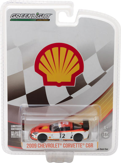 GreenLight 1/64 2009 Chevy Corvette C6.R Shell Oil (Hobby Exclusive) #29907