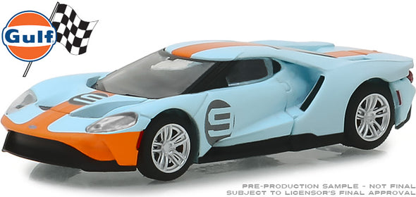 GreenLight 1/64 2019 Ford GT - Ford GT Heritage Edition - #9 Gulf Racing (Hobby Exclusive) #29909