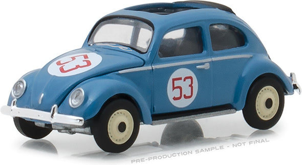GreenLight 1/64 Club Vee-Dub Series 7 - 1953 Volkswagen Split Window Beetle #53 Nurburgring Racer Solid Pack #29920-A