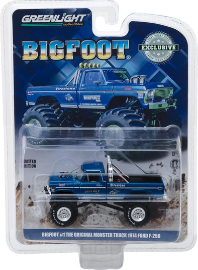 GreenLight 1/64 Bigfoot #1 The Original Monster Truck (1979) - 1974 Ford F-250 Monster Truck (Hobby Exclusive) #29934