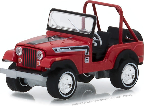 "GreenLight 1/64 1974 Jeep CJ-5 Renegade ""The Great Escape"" Advertisement Car (Hobby Exclusive)) #29936"