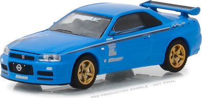 "GreenLight 1/64 BFGoodrich Vintage Ad Cars - 2001 Nissan Skyline GT-R (R34) ""Track Meat"" (Hobby Exclusive) #29944"