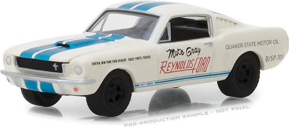 "GreenLight 1/64 1965 Shelby GT-350 - Reynolds Ford ""Super Horse"" driven by Mike Gray (Hobby Exclusive) #29949"
