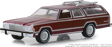 GreenLight 1/64  Estate Wagons Series 3 - 1985 Mercury Grand Marquis Colony Park - Burgundy Solid Pack #29950-F