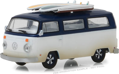 GreenLight 1/64 1973 Volkswagen Type 2 (T2B) Van‏ with Surf Boards (Hobby Exclusive) #29956