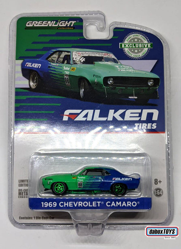 """GREEN MACHINE"" - GreenLight 1/64 1969 Chevy Camaro #88 - Falken Tires (Hobby Exclusive) #29959"