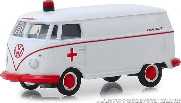 GreenLight 1/64 Club V-Dub 9 - 1964 VW Panel Van Ambulance #29960-A