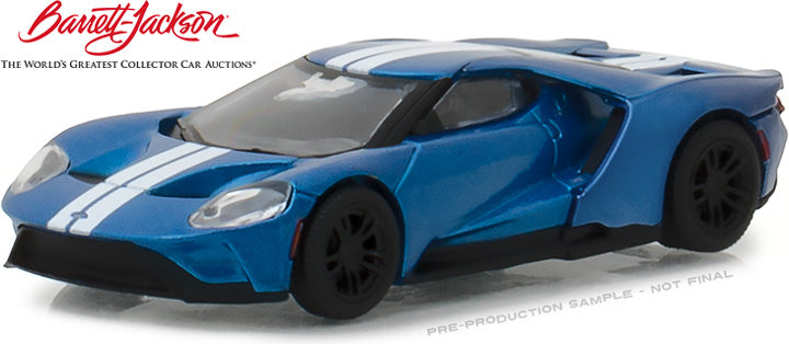 GreenLight 1/64 2018 Barrett-Jackson Scottsdale - 2017 Ford GT -  Liquid-Blue with White Stripes - IGNITE Program Charity Car (Hobby  Exclusive) #29964