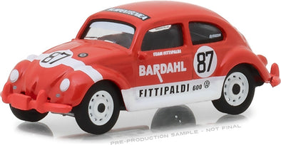 GreenLight 1/64 1967 Volkswagen Beetle Bardahl #87 Team Fittipaldi (Hobby Exclusive) #29988