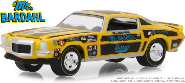 GreenLight 1/64 Bardahl - 1970 Chevrolet Camaro Mr. Bardahl (Hobby Exclusive) #29989
