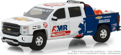 GreenLight 1/64 2018 Chevrolet Silverado - AMR IndyCar Safety Team with Safety Equipment in Truck Bed (Hobby Exclusive)  #29991