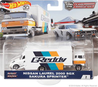 Hot Wheels Car Culture Team Transport Nissan Laurel 2000 SGX / Sakura Sprinter