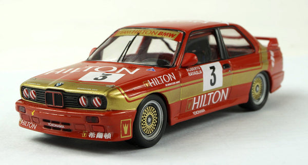 premium x 1 43 bmw m3 e30 3 team hilton r ravaglia 1987 macau gu daboxtoys model cars dmc. Black Bedroom Furniture Sets. Home Design Ideas