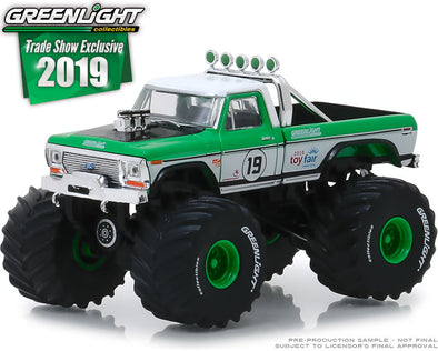 GreenLight 1/64 1974 Ford F-250 Monster Truck - #19 GreenLight Racing Team - 2019 GreenLight Trade Show Exclusive #30006