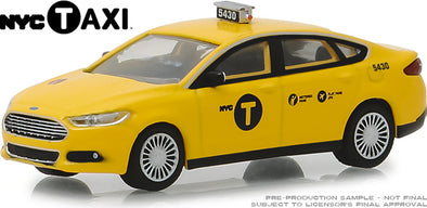 GreenLight 1/64 2013 Ford Fusion NYC Taxi (Hobby Exclusive)  #30011