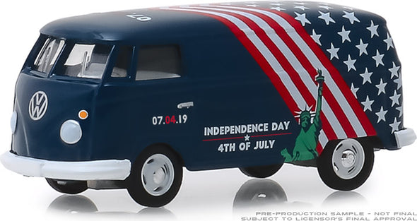 GreenLight 1/64 Volkswagen Type 2 Panel Van - Independence Day 2019 (Hobby Exclusive) #30044