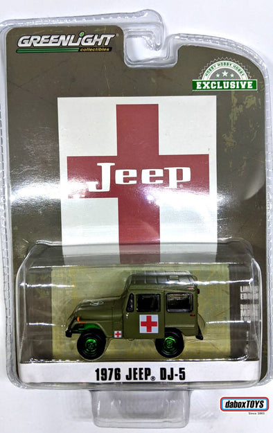 """GREEN MACHINE"" GreenLight 1/64 1976 Jeep DJ-5 - Medical Unit (Hobby Exclusive) #30051"