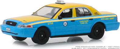 GreenLight 1/64 2011 Ford Crown Victoria Checker Cab Co. Taxi City of Los Angeles, California (Hobby Exclusive) #30055