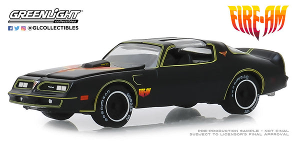 "GreenLight 1/64 1977 Pontiac Firebird ""Fire Am"" by Very Special Equipment (VSE) - Black with Hood Bird (Hobby Exclusive) #30059"