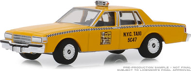 GreenLight 1/64 1987 Chevrolet Caprice New York City Taxi Cab (Hobby Exclusive) #30077